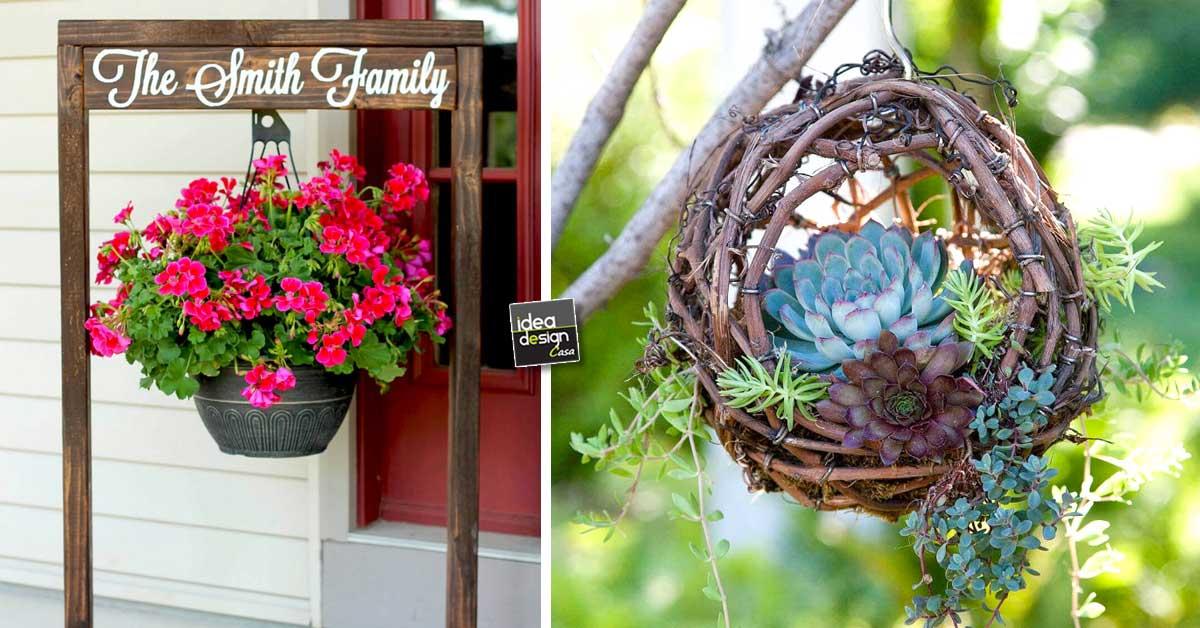 Piante sospese per decorare il giardino ecco 20 esempi a - Come decorare il giardino ...
