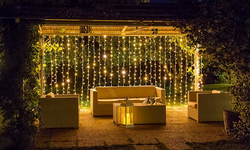 Illuminare il gazebo di sera 20 idee originali per - Come illuminare casa ...