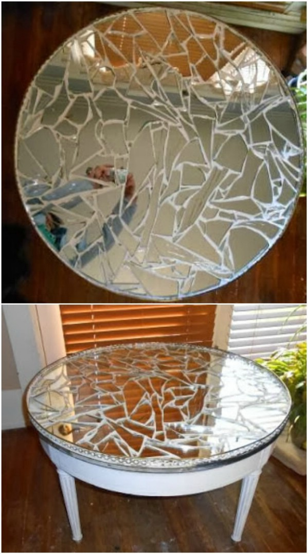 Riciclare uno specchio rotto