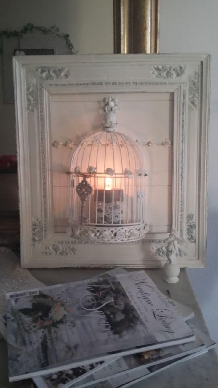 Riciclare uno specchio rotto ecco 20 idee creative per for Chambre a coucher style provencal