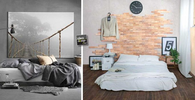 Dipingere Parete Dietro Il Letto : Idee per decorare la parete dietro il letto come decorare la