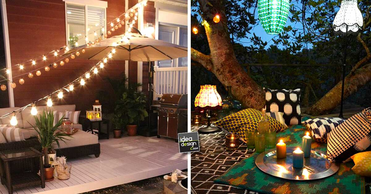Illuminare il giardino con fantasia ecco 21 esempi a cui for Idee per giardino in terrazza