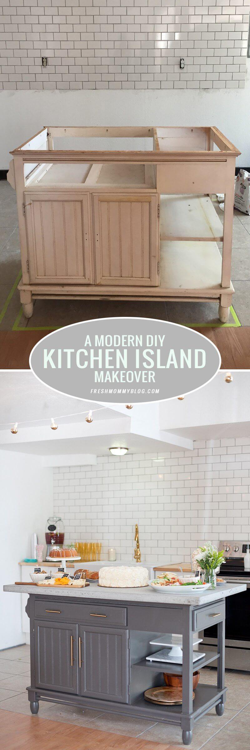 DIY kitchen island! 17 original ideas to inspire you ...