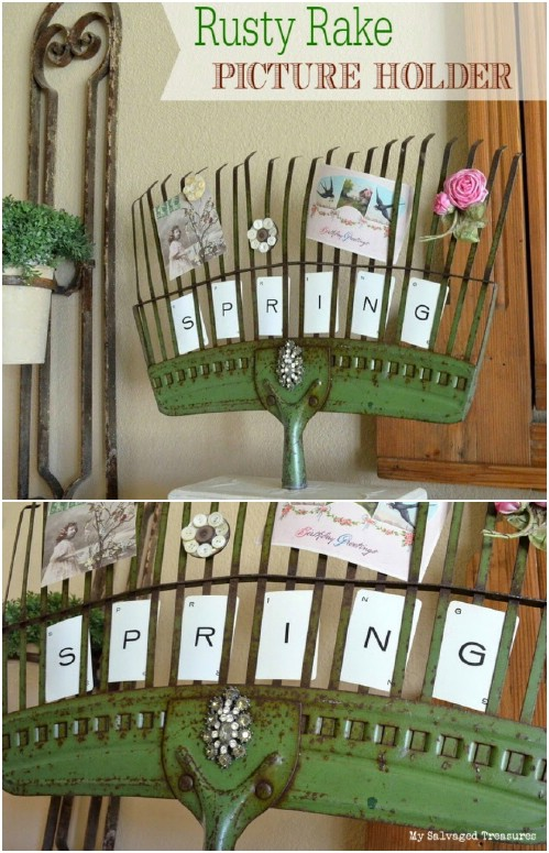 Riciclare vecchi attrezzi da giardinaggio