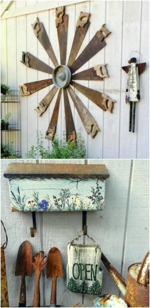 Riciclare vecchi attrezzi da giardinaggio! Ecco 20 idee creative...