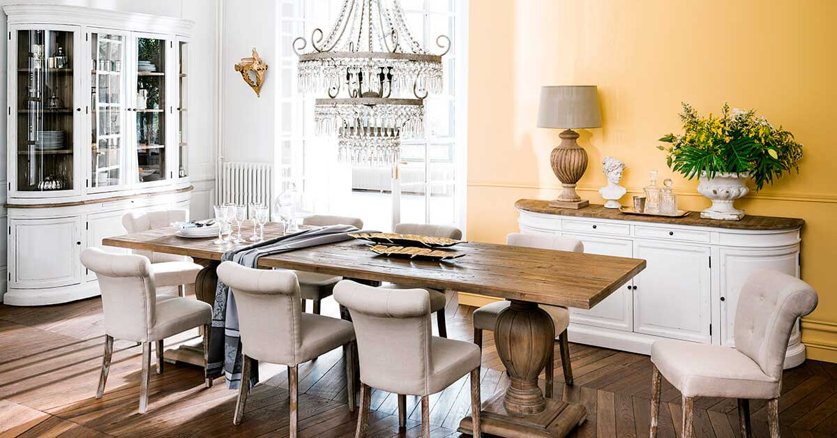 Arredare la sala da pranzo in stile classico chic for Sala da pranzo decor