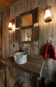 Arredare il bagno come se fosse una fattoria