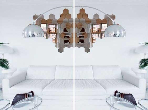 Una composizione originale con gli specchi