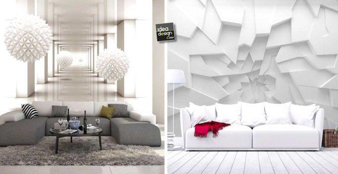 Carta da parati effetto 3D grandioso per decorare! 20 esempi stupendi...