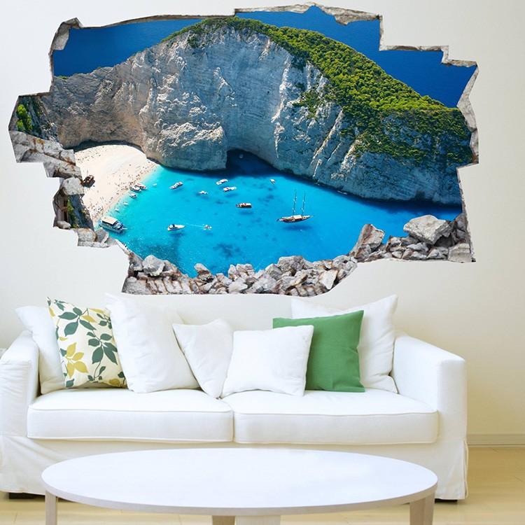 Decorare una parete di casa con gli adesivi murali 3d 20 - Decorare una parete di casa ...