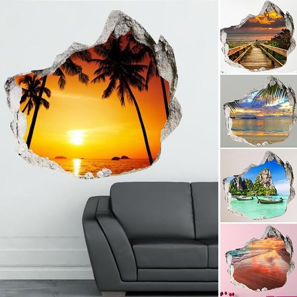Decorare una parete di casa con gli adesivi murali 3d 20 for Adesivi parete 3d