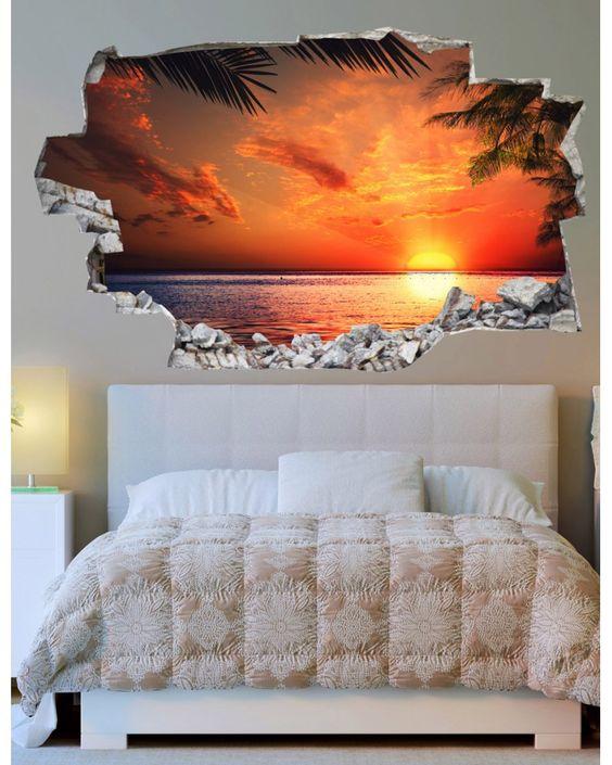 Decorare una parete di casa con gli adesivi murali 3d 20 for Stickers murali 3d
