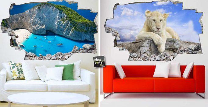 Decorare una parete di casa con gli adesivi murali 3d 20 - Decorare una parete ...