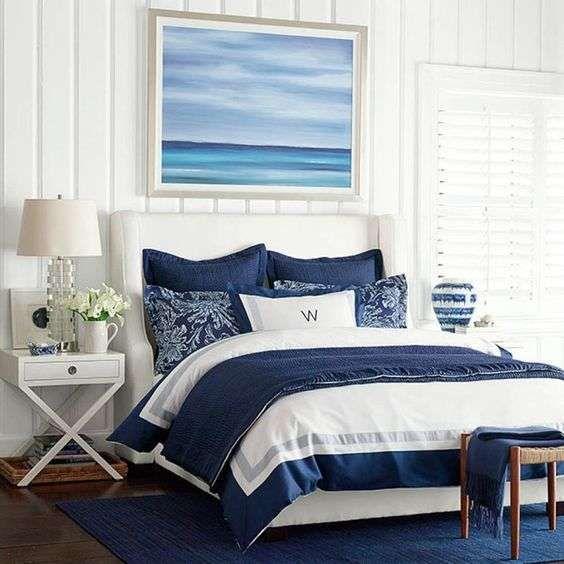 Black White Blue Bedroom Bedroom Carpet Grey Black White Gray Bedroom Bedroom Colour Pic: Una Testata Letto A Tema Mare! Ecco 20 Esempi A Cui