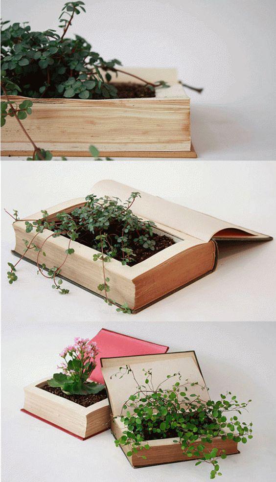 Creare una fioriera originale riciclando libri