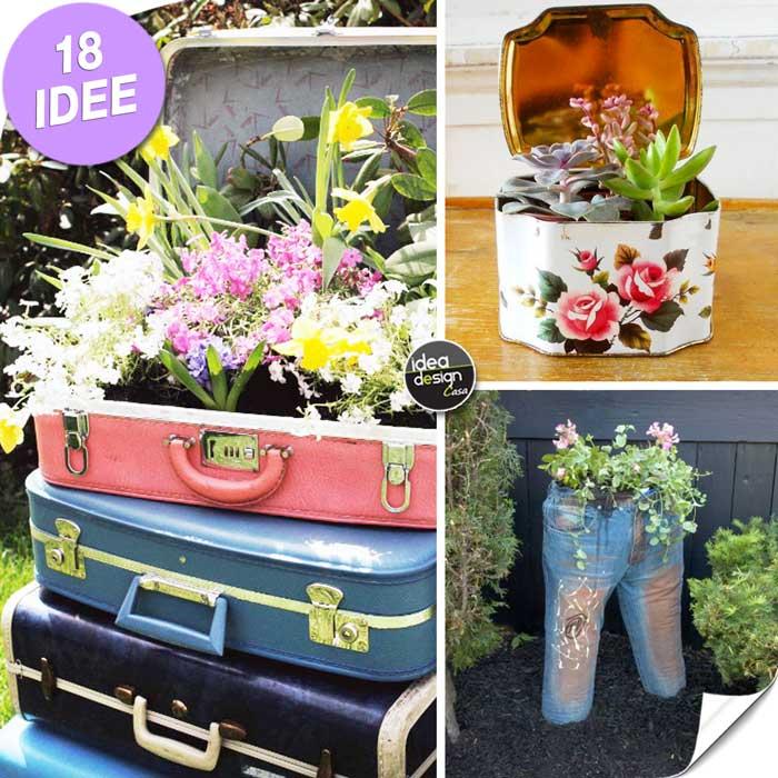 Creare una fioriera originale riciclando 18 idee for Oggetti da creare in casa