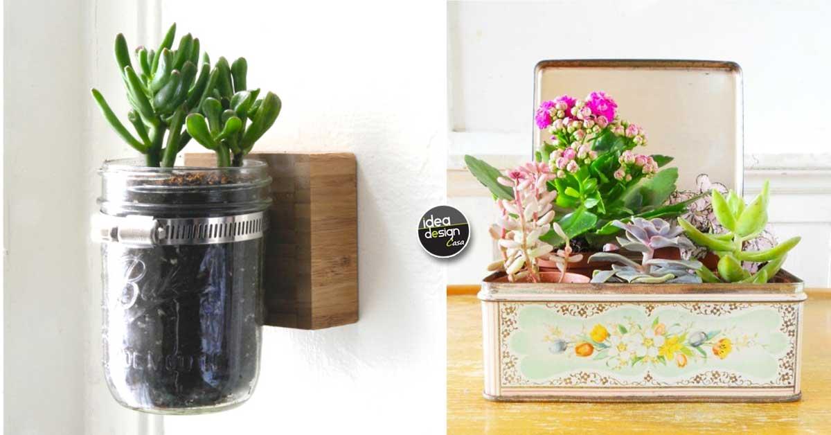 Creare una fioriera originale riciclando 18 idee for Riciclare oggetti per arredare