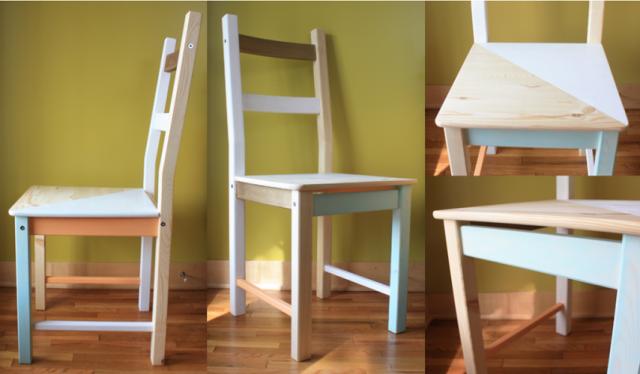 personalizzazione originale di una sedia IKEA.