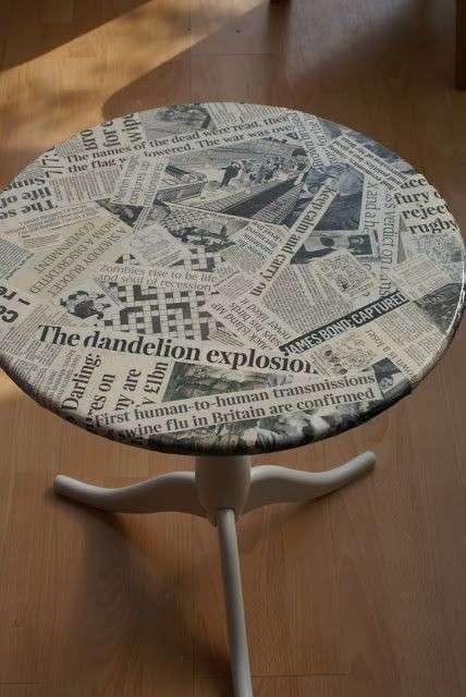 Decorazioni fai da te con i vecchi giornali 15 idee da for Resoconto tratto da articoli di giornali