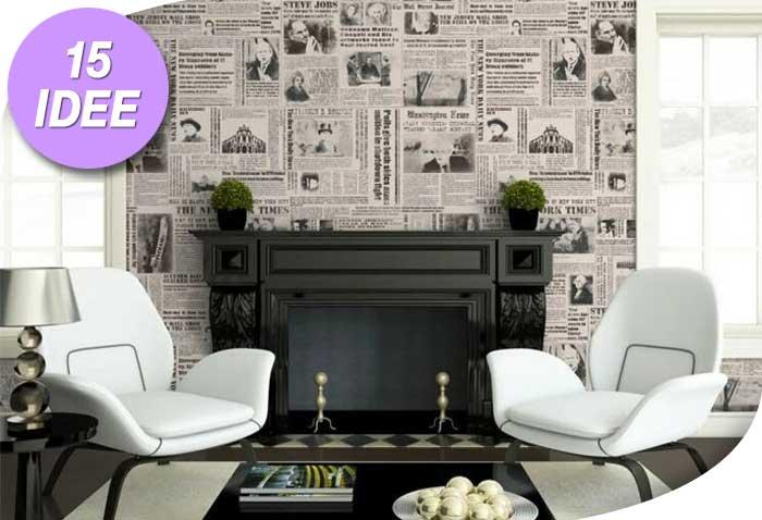 Decorazioni fai da te con i vecchi giornali 15 idee da for Giornali arredamento casa