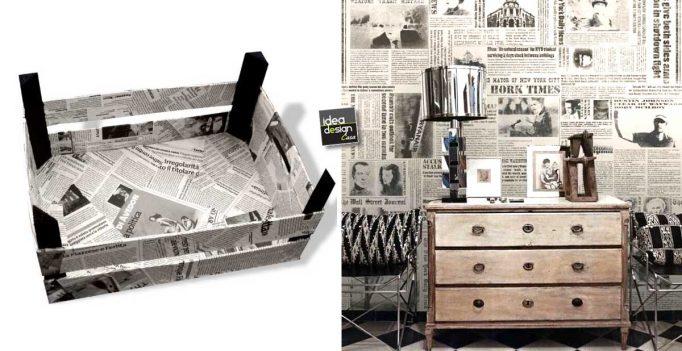 Decorazioni fai da te con i vecchi giornali idee da cui trarre