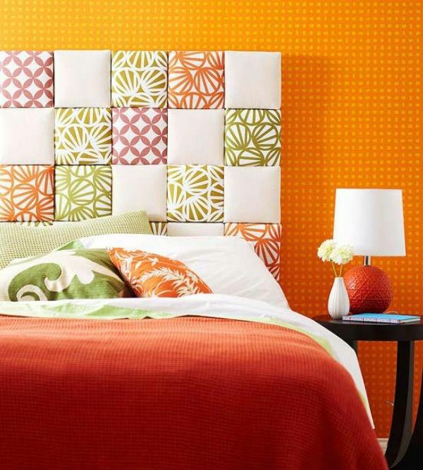 Una testata letto fai da te con tessuti originali 11 idee - Creare testata letto ...