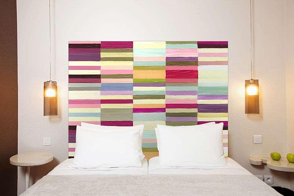 Una testata letto fai da te con tessuti originali 11 idee - Idee per testiera letto ...