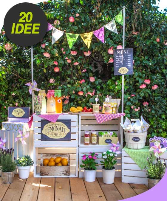 Creare un piccolo bancone delle bibite per una festa in for Idee per creare un giardino