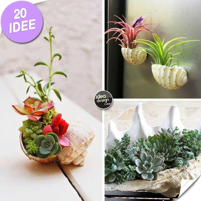 Creare una fioriera con le conchiglie ecco 20 idee for Creare una casa online