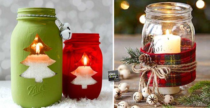 Idee creative per arredare casa su - Decorazioni natalizie in vetro ...