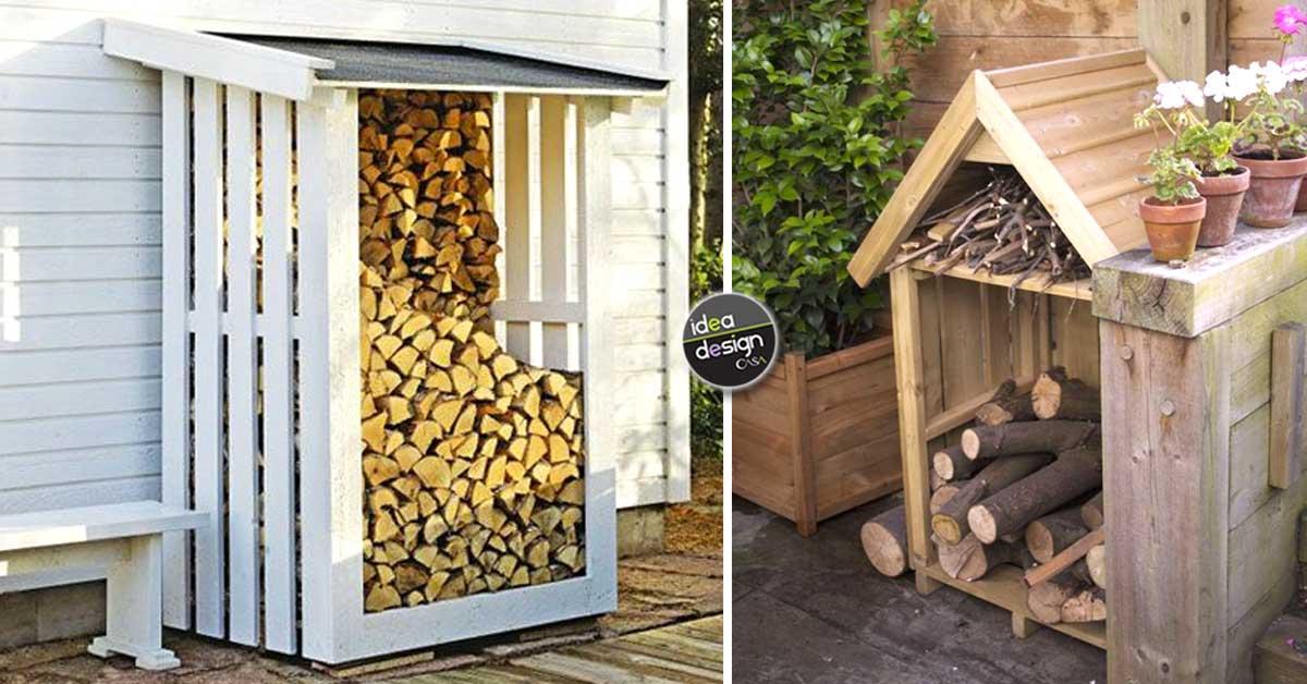Sistemare la legna in giardino ecco 20 idee fai da te per for Cassa porta legna