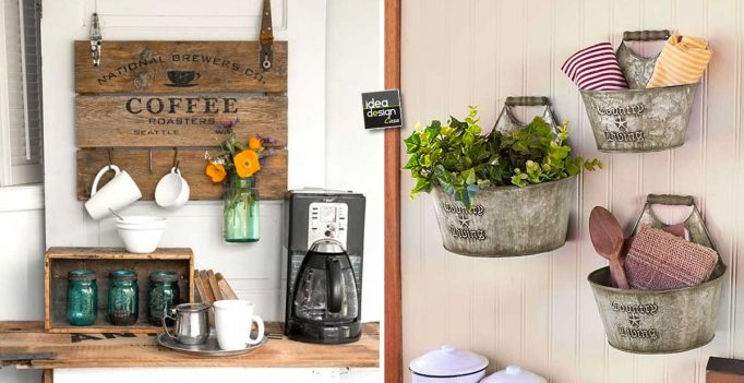 Decorazioni fai da te stile country chic per abbellire for Idee per arredare casa stile country