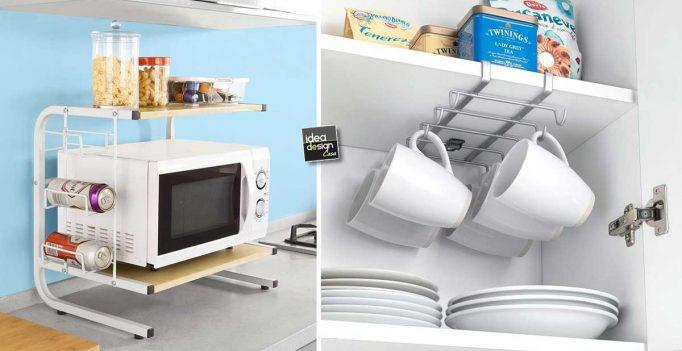 Accessori salvaspazio per una piccola cucina! ecco 20 idee