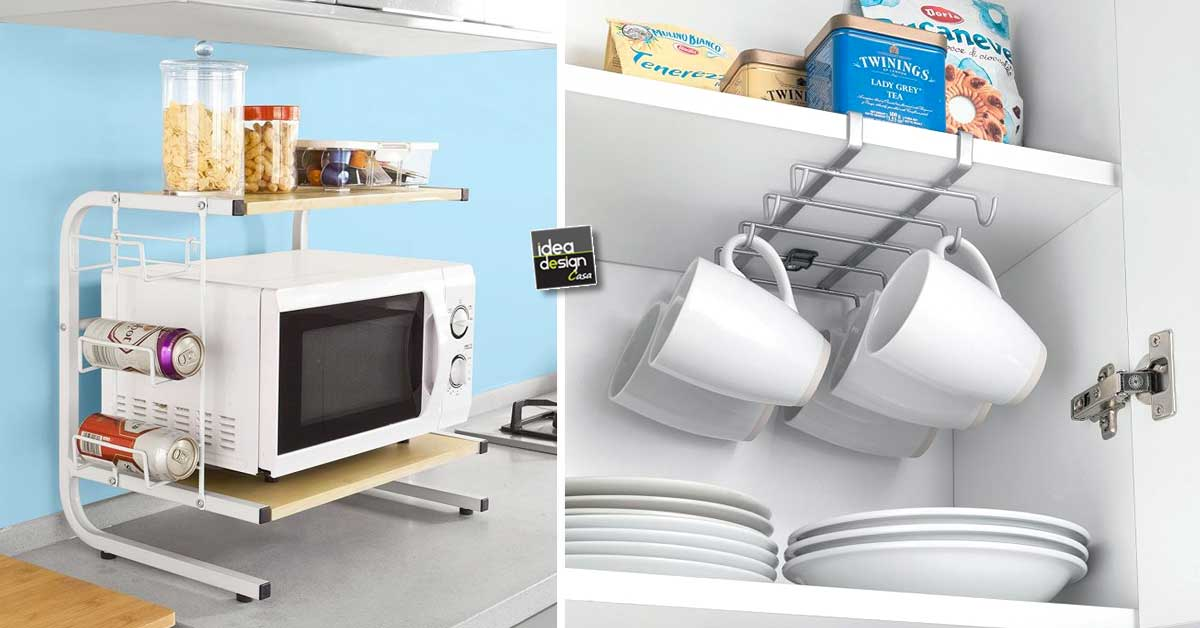 Accessori salvaspazio per una piccola cucina ecco 20 idee - Colori per cucina piccola ...