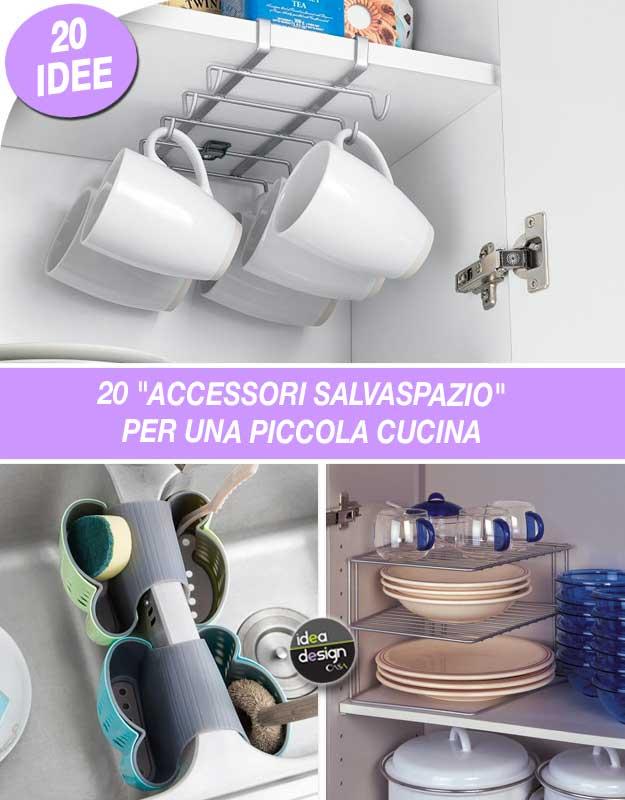 Accessori salvaspazio per una piccola cucina ecco 20 idee for Design accessori cucina