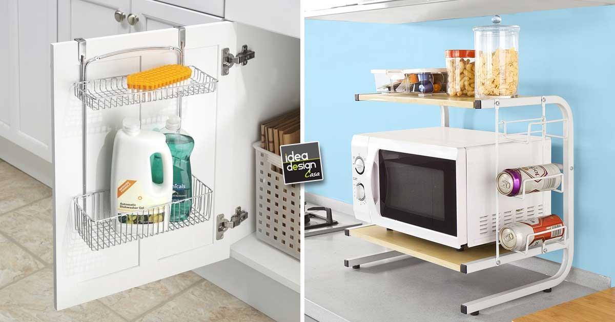 Accessori salvaspazio per una piccola cucina ecco 20 idee for Idee salvaspazio cucina