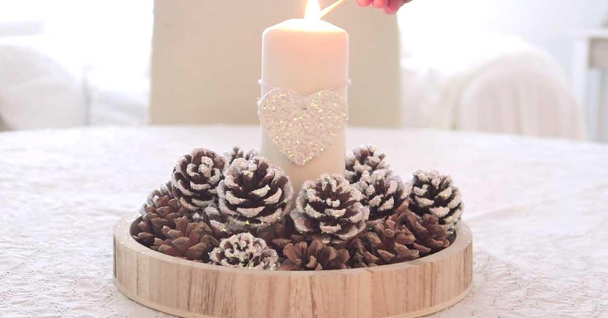 Centrotavola fai da te con le pigne ecco 15 idee da cui - Pigne decorate natalizie ...