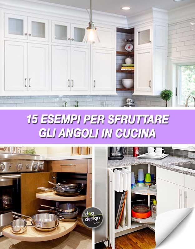 Sfruttare gli angoli in una piccola cucina 20 idee da cui for Come costruire una piccola casa a buon mercato