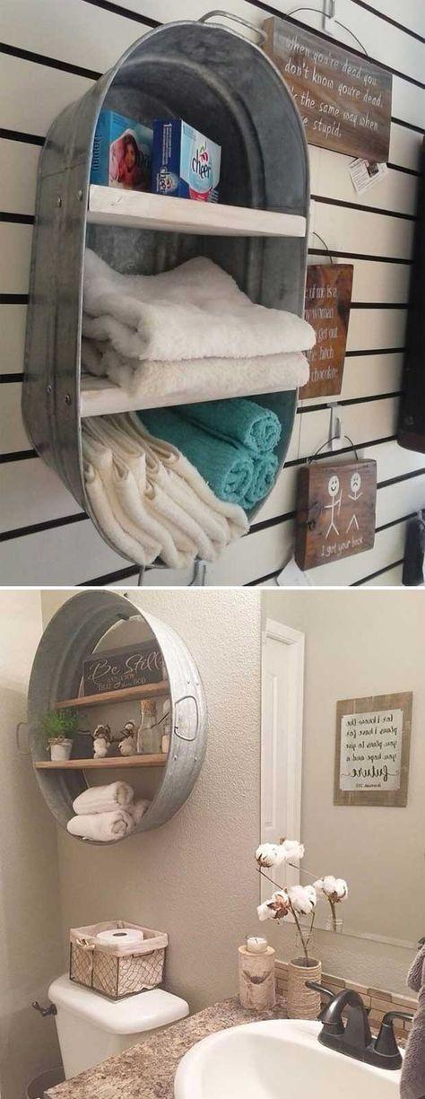 Come sistemare gli asciugamani in bagno! 20 idee originali per ispirarvi
