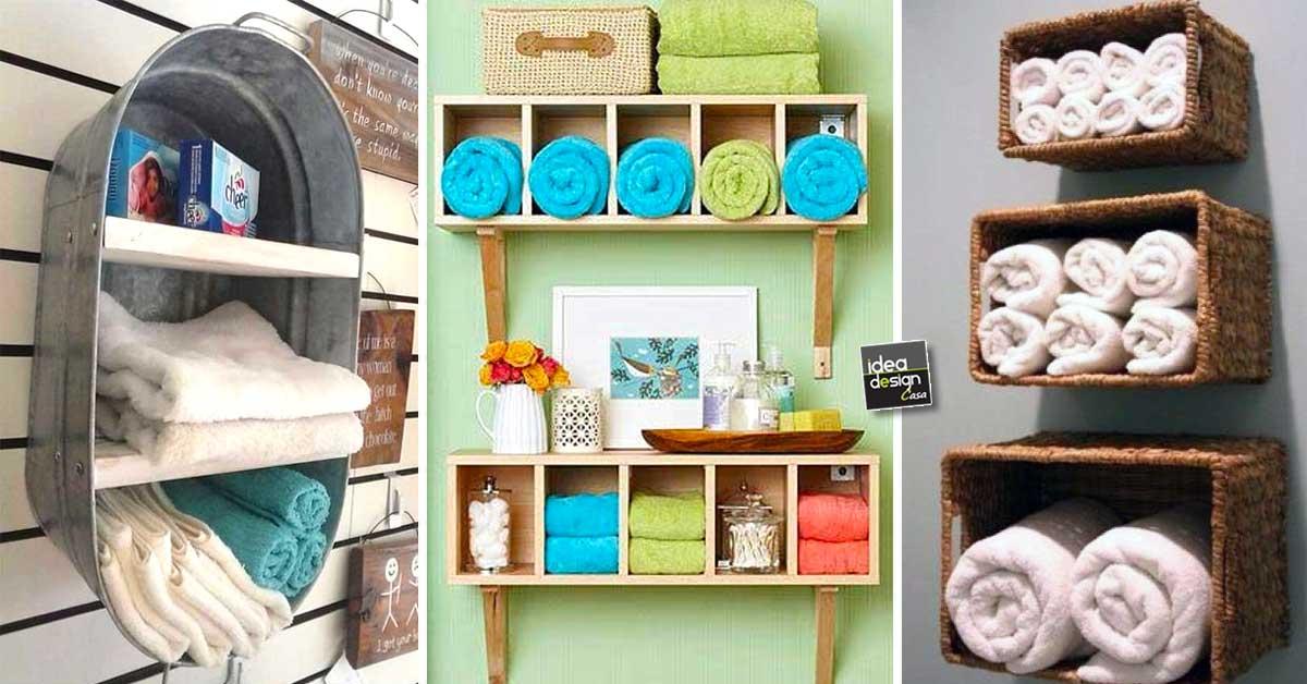 Idee Originali Per Il Bagno : Come sistemare gli asciugamani in bagno! 20 idee originali per ispirarvi