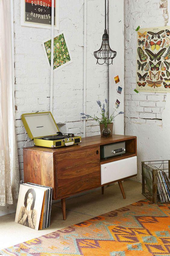 Un angolo music per decorare casa con un tocco vintage 20 idee retr - Idea casa biancheria mestre ...