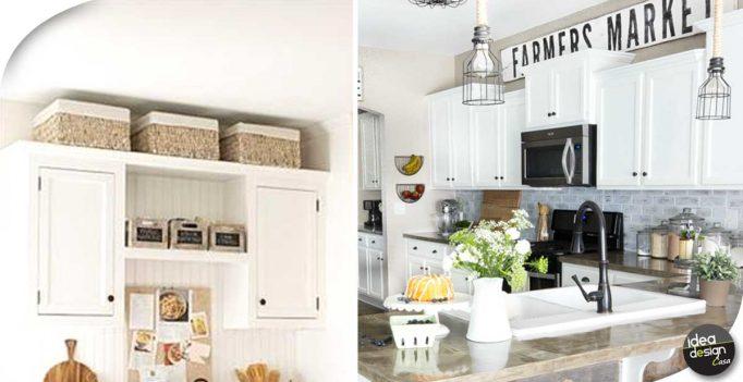 Decorare sopra i pensili della cucina ecco 20 idee - Pensili per cucina ...