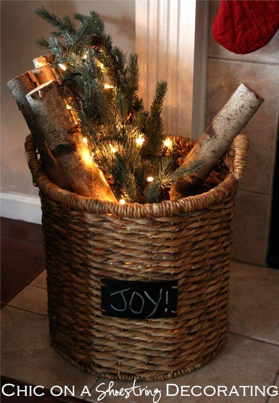 Conosciuto Abbellire casa con un cesto a Natale! Ecco 15 idee per ispirarvi MW57