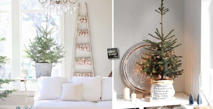 Decorare con un piccolo albero di natale 15 idee per - Idee per decorare una stanza ...