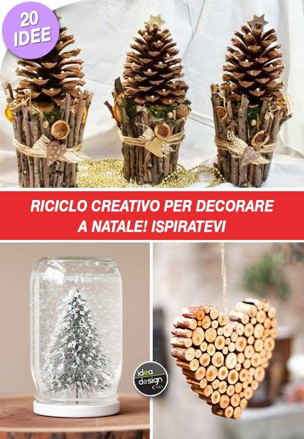 Favorito Riciclo creativo per decorare a Natale! Ecco 20 idee per ispirarvi OF17