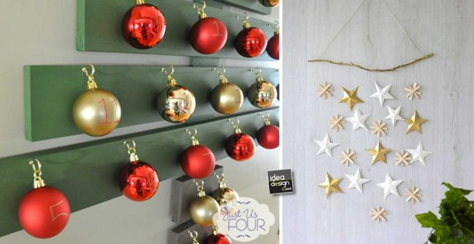 Decorazioni murali natalizie fai da te ecco 15 idee per ispirarvi - Decorazioni natalizie fai da te per esterno ...
