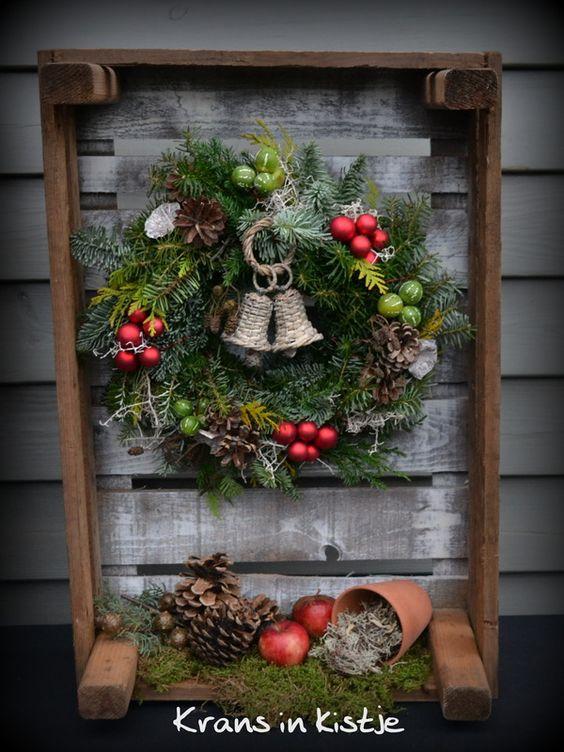 Decorazioni natalizie con cassette di legno 15 idee per ispiravi - Buiten idee ...