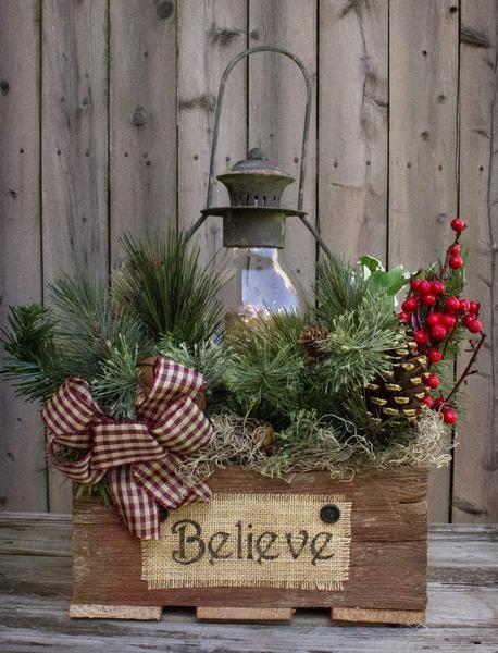 Decorazioni natalizie con cassette di legno 15 idee per ispiravi - Zinkwanne weihnachtlich dekorieren ...