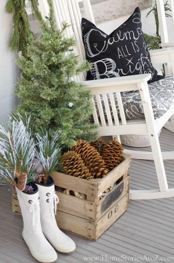 Decorazioni natalizie con cassette di legno 15 idee per for Premiato design di casette