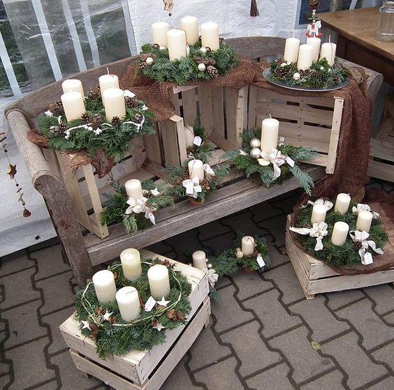 Decorazioni natalizie con cassette di legno 15 idee per - Decorazioni in legno ...